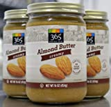 Smooth Almond Butter (Pack of 3 - 1lb Containers)