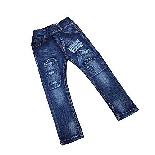 Zier Bambini Lungo Del Denim Dei Jeans Mutanda Casuale Pull Up Elastico Regolabile 33856