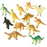 Rhode Island Novelty Dozen Small Toy Dinosaurs: 2 Inch Plastic Toy Dino Figures (Assorted)