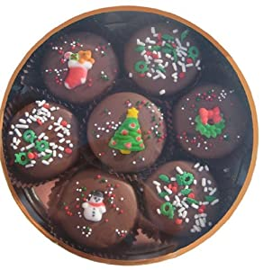 Chocolate Dipped Oreo Cookies decorated for Christmas 7 Oreo Assortment, Milk Chocolate