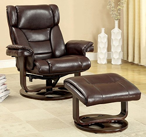 Swivel Recliner With Ottoman front-424300