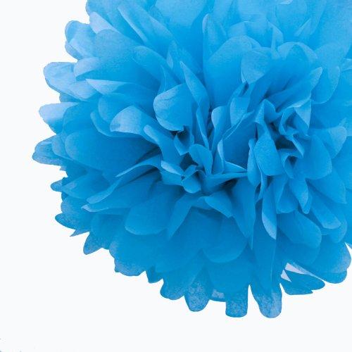"Dress My Cupcake Mini 5"" Cornflower Blue Tissue Paper Pom Poms, Set Of 8 - Blue Tissue Paper Flowers, Blue Party Decorating Ideas front-86284"