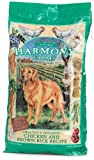 HARMONY FARMS Healthy &amp; Holistic Chicken &amp; Brown Rice Adult Dog Food, 17.5-Pound Bag