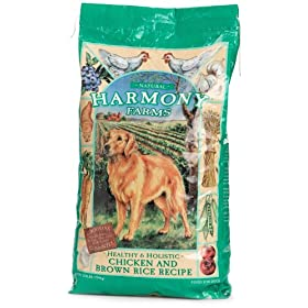 HARMONY FARMS Chicken & Brown Rice Adult Dog Food, 17.5-Pound Bag