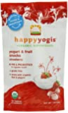 Happy Yogis Organic Yogurt Snacks for Babies and Toddlers, Strawberry, 1-Ounce Pouches (Pack of 8)