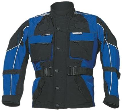 Roleff Racewear 431KM Blouson Moto pour Enfants, Noir/Bleu, M/140