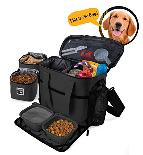 dog-travel-bag-week-away-tote-for-med-and-large-dogs-includes-bag-2-lined-food-carriers-placemat-and