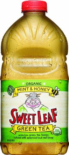 Sweet Leaf Tea, Mint & Honey Green Tea, 64-Ounce Bottles (Pack Of 8)