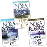 Nora Roberts Nora Roberts Three Sisters Island Trilogy 3 Books Collection Pack Set (Heaven and Earth 2, Face the Fire 3, Dance Upon the Air)