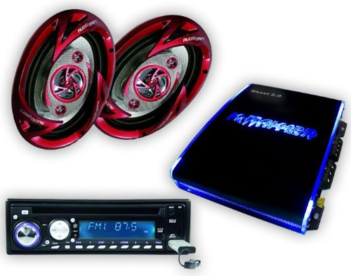 Auto Hifi SET 1350W Endstufe CD MP3 USB SD Radio