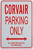 CORVAIR PARKING ONLY SIGN - CHEVROLET