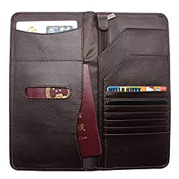 Boshiho® Soft Genuine Leather Passport Cover Case Passport Wallet and Ticket Organizer Slim Travel Wallet with Credit Card Slots