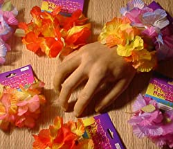 One Dozen Hawaiian Flower Lei Bracelets