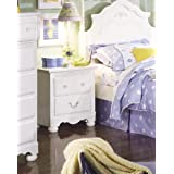 Scarlett Wood Kid's Night Stand , Off White Finish
