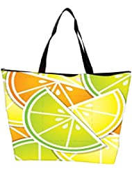 Snoogg Citrus Wedge Background Card In Vector Format Waterproof Bag Made Of High Strength Nylon
