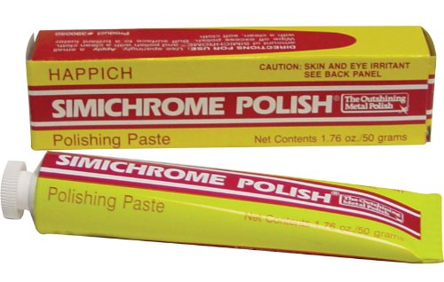 Simichrome Metal Polish 50 Gram/1.76 oz - The best soft paste polish for Chrome, Silver, Aluminium, Brass and virtually any metal-