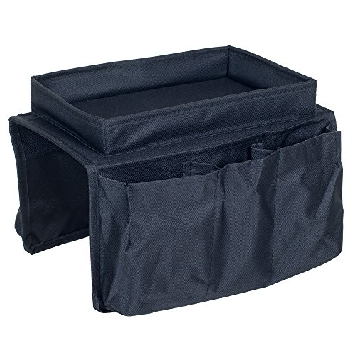 Trademark 6 Pocket Arm Rest Organizer with Table-Top, Black (Chair Pocket Organizer compare prices)