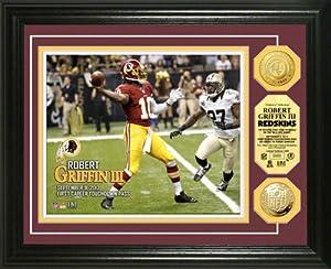 Washington Redskins Robert Griffin III 1st Career Touchdown Pass Gold Coin Photo by Highland Mint