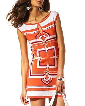bebe.com : Sleeveless Abstract Keyhole Dress from bebe.com