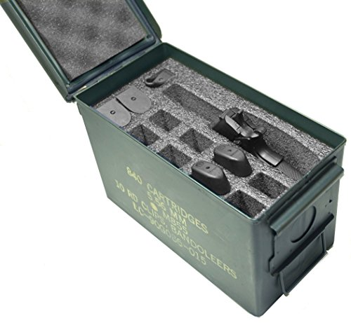 Purchase Case Club 1 Pistol & 11 Magazine .50 Cal Ammo Can Foam (Pre-cut, Closed Cell, Military Grad...
