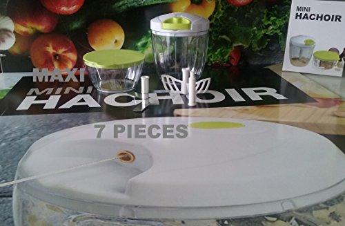 MAXI MINI HACHOIR MANUEL 3 LAMES vert ( 7 pièces )