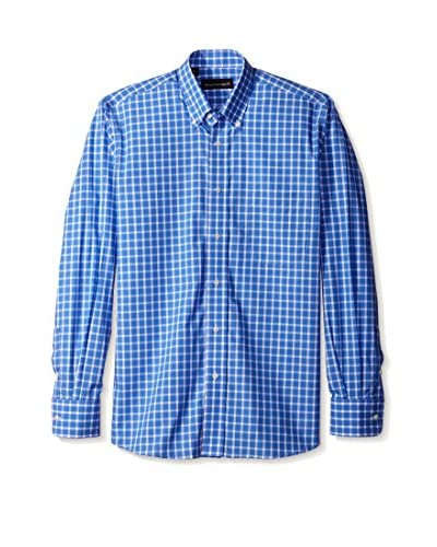 Kenneth Gordon Men's Check Button Down Sport Shirt