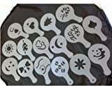 1 X Coffee Stencils Latte Art Cappuccino Plastic Plate Template 16 Designs