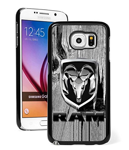 Samsung Galaxy Note 5 Case, Dodge Ram Logo Wood Drop Protection Never Fade Anti Slip Scratchproof Black Hard Plastic 3D Case (Galaxy Note 3 Dodge Case compare prices)