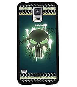 Printvisa 2D Printed Skull Designer back case cover for Samsung Galaxy S5 SM - N900I / N900F - D4183
