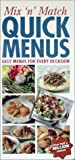 Mix N Match Quick Menus