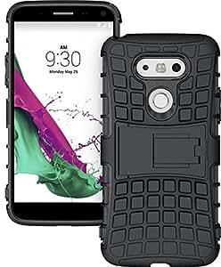 LG G5 Case, LG G5 DEFENDER Case, [DEFENDER] Tpu+pc Scratchproof Shock Proof Shell with Kickstand for LG G5 (Black)