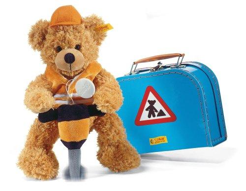11'' 'Construction' Fynn Teddy Bear in Master Builder Suitcase