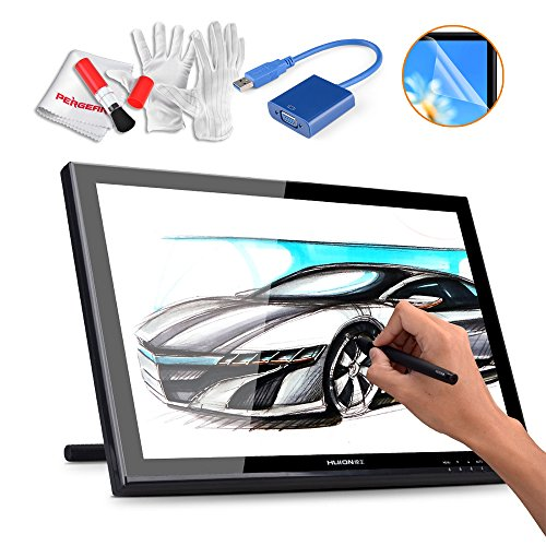 Huion GT-190 19 Inches Drawing Pen Display Graphics Tablets Monitor with USB 3.0 to VGA Adapter, Screen Protector and Pergear Cleaning Kit (Imac Cleaning Software compare prices)
