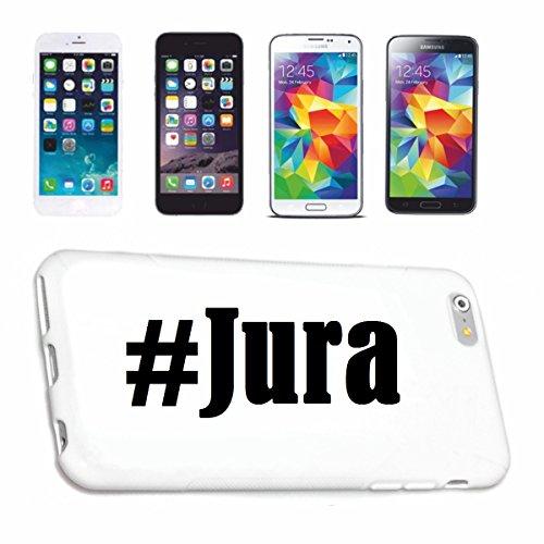Handyhülle Samsung S6 Edge Galaxy Hashtag ... #Jura ... im Social Network Design Hardcase Schutzhülle Handycover Smart Cover für Samsung Galaxy Smartphone ... in Weiß ... Schlank und schön, das ist unser HardCase. Das Case wird mit einem Klick auf deinem Smartphone befestigt