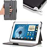 MoKo Slim-fit Folio Cover Case for Samsung Galaxy Note 10.1-Inch N8000 N8010 N8013 Android Tablet, Black (with Built-in Multi-Angle Stand)