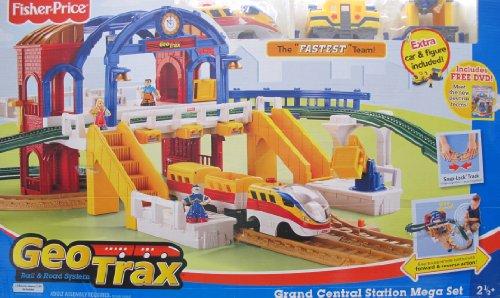 GEOTRAX Geo Trax REMOTE Control GRAND CENTRAL STATION 'MEGA' TRAIN SET w
