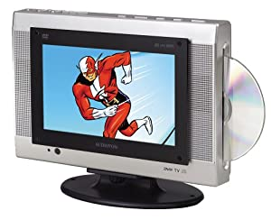 Audiovox FPE1078 7.8-Inch Flat Panel TV with Slot Load DVD Player.