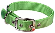 Hamilton Double Thick Nylon Deluxe Dog Collar, 1-Inch by 26-Inch, Lime Green
