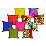 MeSleep 5 Pc NewCombo Digital Cushion Cover And 5 Pc Multi Quilted Cushion Cover