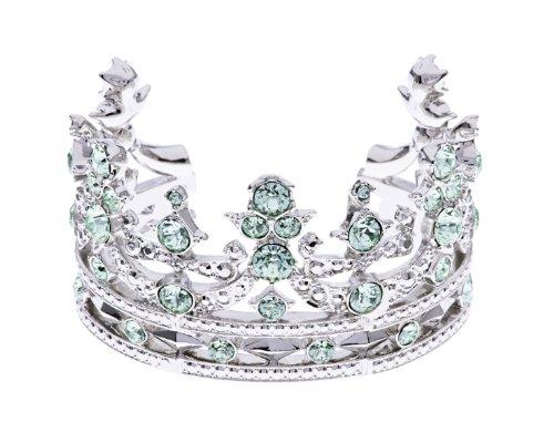 Ted Baker Alana Tiara - Bracciale stile vintage con cristalli Swarovski verde menta ispirato al diadema della regina, lunghezza 6,6 cm