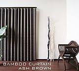 アジアン 竹カーテン 2枚組セット リゾート (幅100×丈178cm 2枚組, アッシュブラウン)