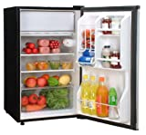 Magic Chef 4.4 Cu Ft Refrigerator Stainless, Push-button Defrost MCBR445S2