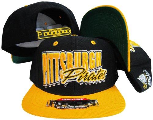 Pittsburgh Pirates Yellow/Black Fusion Angler Snapback Hat / Cap