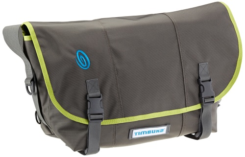 Timbuk2 D-Lux Unisex Messenger Bag - S, Brown (Potrero/ Lime-Aid Binding)