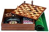 Cayro - Caja multijuegos con ruleta marquetería (1446)