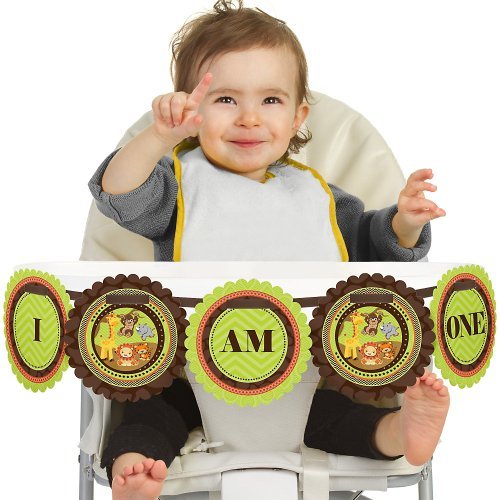 Funfaritm - Fun Safari Jungle - High Chair Birthday Banners front-716907