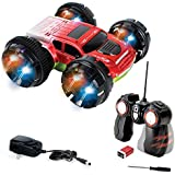 Double Sided Remote Control Car - Extreme Stunt RC Car For Kids, 360 Degree Spinning & Flips - Red