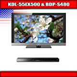"Sony KDL-55EX500 - 55"" BRAVIA LCD TV + Sony BDP-S480 - 3D Blu-ray disc play ...."