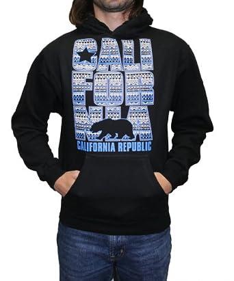 california republic blue design unisex hoodie