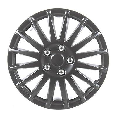 Radkappen 13Zoll 33cm 4Stück schwarz matt Unitec Suzuka Radzierblenden Radblende von Unitec bei Reifen Onlineshop